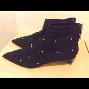 New~ Zara mesh studded pointy toe booties